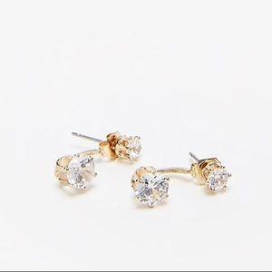 Cubic Zirconia Crawler Earrings - NWOT!